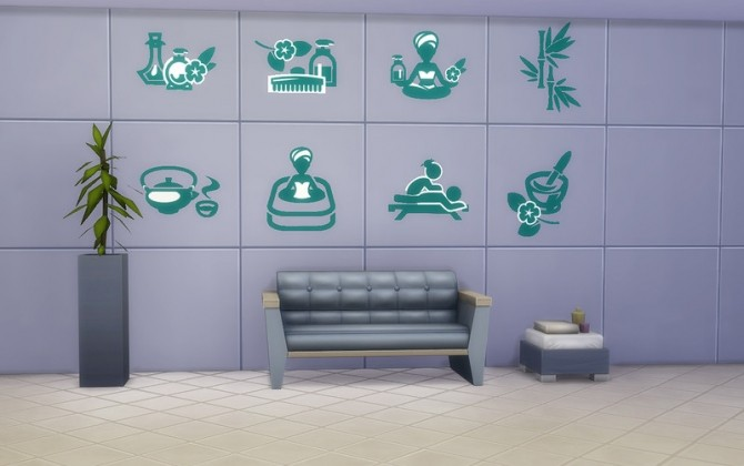 Spa & Beauty Stickers by ihelen at ihelensims » Sims 4 Updates