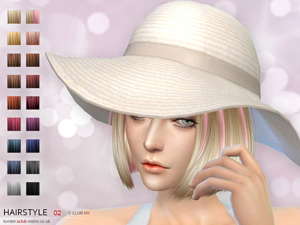 Hair #2 by S Club MK at TSR image 2 Sims 4 Updates