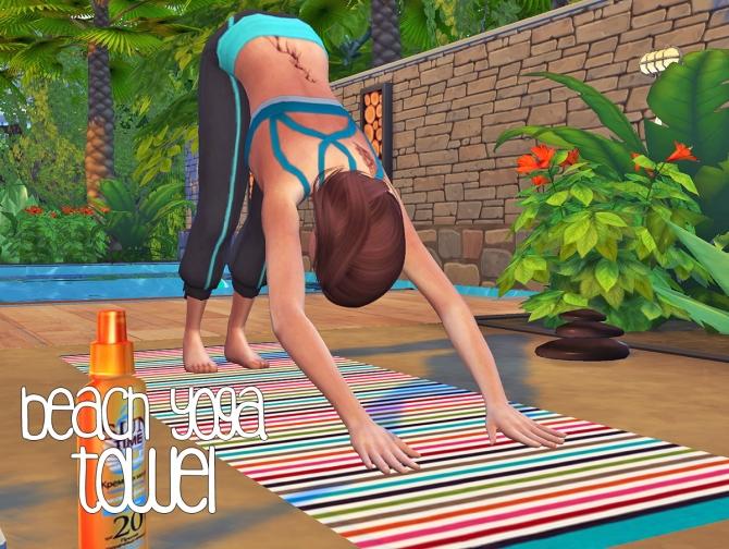 Beach Yoga Towel At Akai Sims 187 Sims 4 Updates