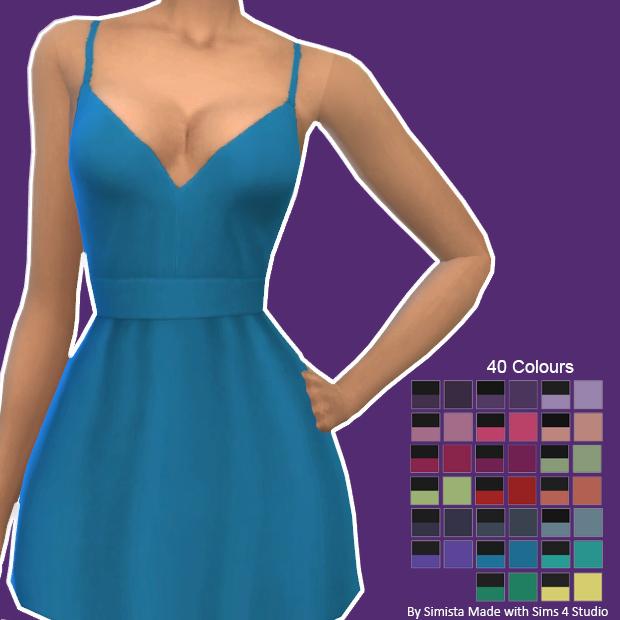 Sims 4 Recolours Of Sentates Shove Dress at Sentate
