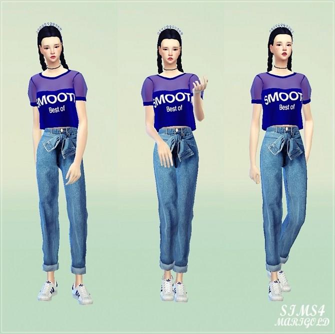 Sims 4 Puff sleeve top at Marigold