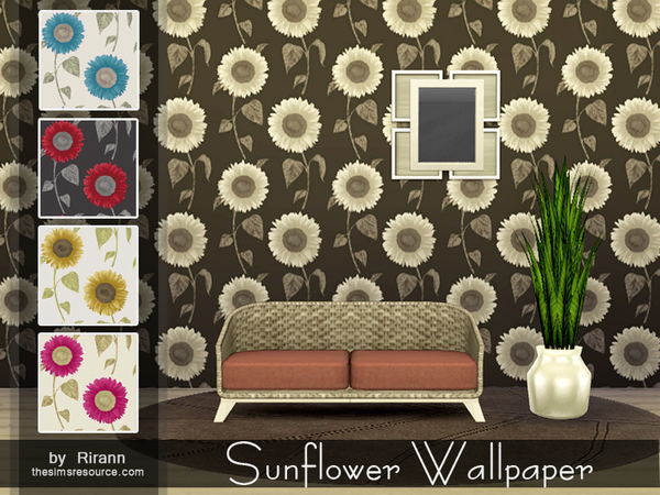 Sunflower Wallpaper by Rirann at TSR image 2020 Sims 4 Updates
