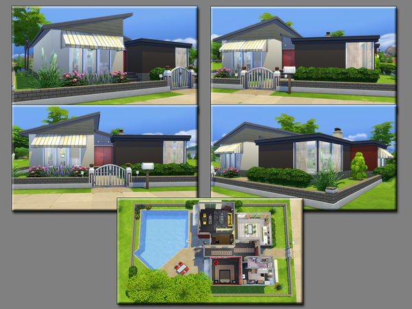 Sims 4 MB Simplicity house by matomibotaki at TSR