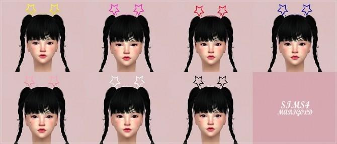 Sims 4 Two star hair band at Marigold