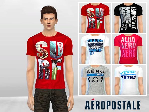 Aero Graphic Tees by McLayneSims at TSR image 2060 Sims 4 Updates