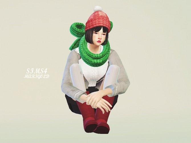 Ribbon knit muffler at Marigold image 2110 670x502 Sims 4 Updates