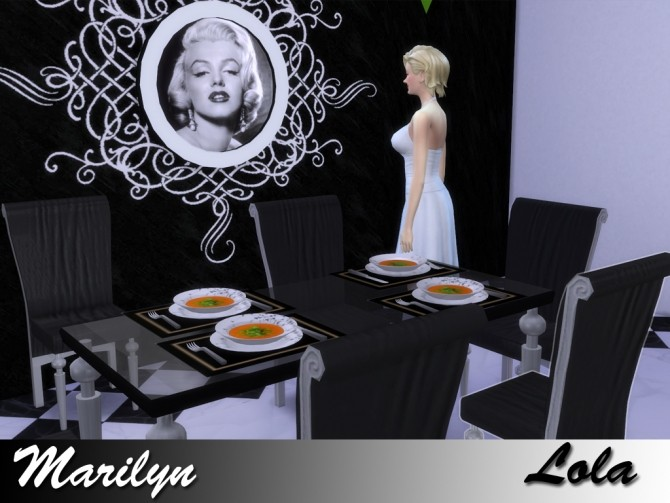 Sims 4 Marilyn Dining by Lola at Sims and Just Stuff
