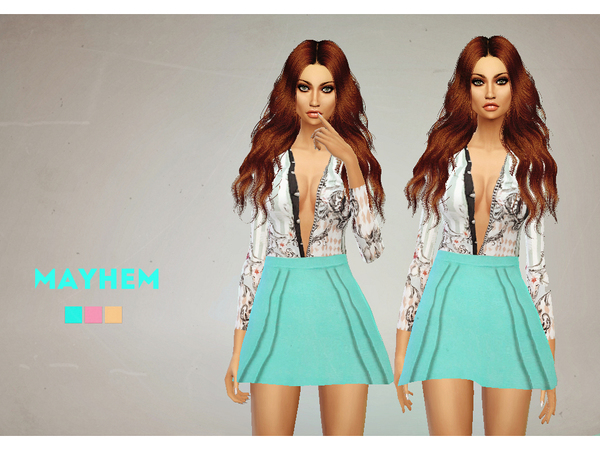 Sims 4 Robyn Outfit by NataliMayhem at TSR