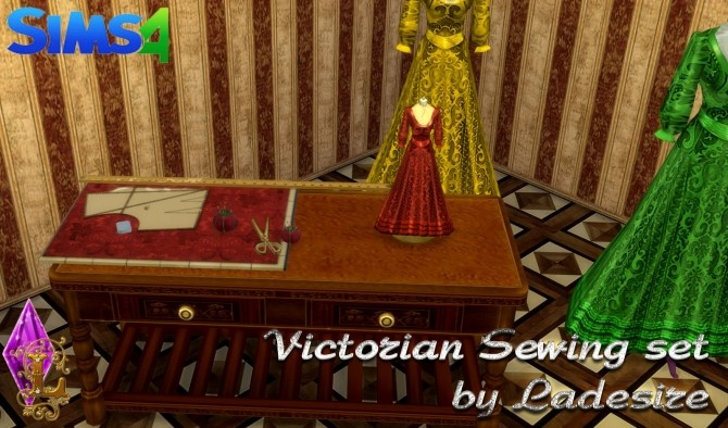 Sims 4 Victorian Sewing Set at Ladesire