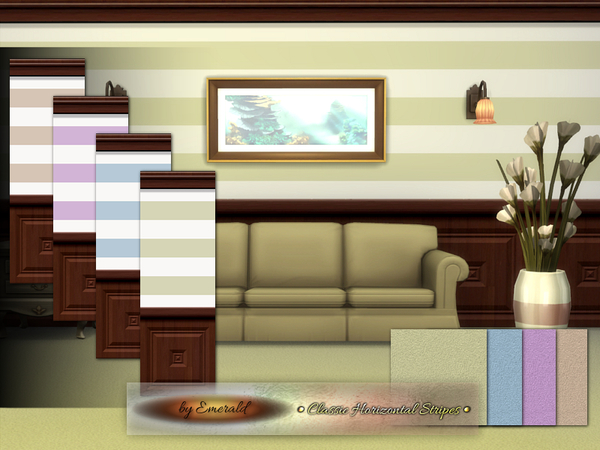 Classic Horizontal Stripes by emerald at TSR image 2138 Sims 4 Updates