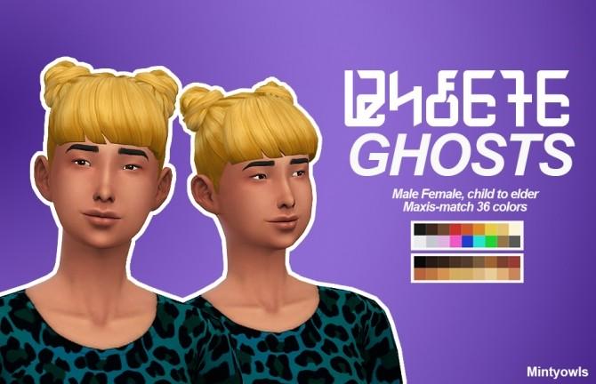 Sims 4 Ghosts hair edit at MintyOwls