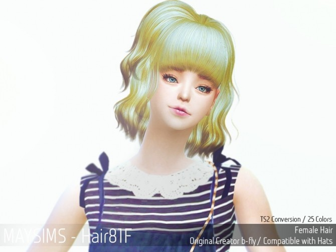 Hair 81F (B fly) at May Sims image 220 670x503 Sims 4 Updates