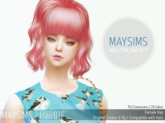 Hair 81F (B fly) at May Sims image 2211 670x503 Sims 4 Updates