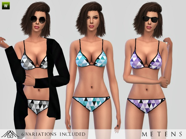 Sims 4 Triangle Bikini by Metens at TSR