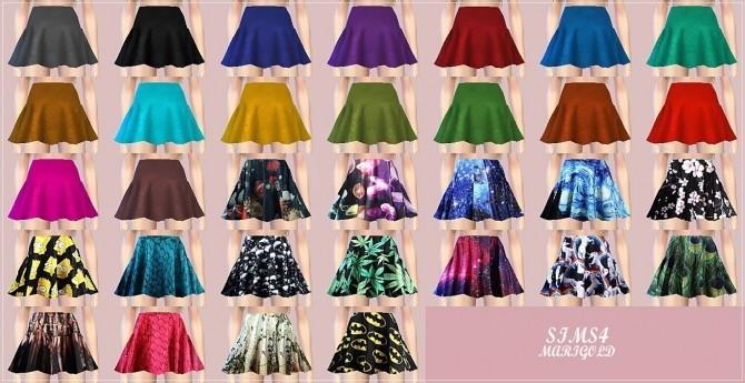 Hot Flared Mini Skirt At Marigold 187 Sims 4 Updates