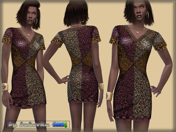 Sims 4 Dress Sequins by bukovka at TSR