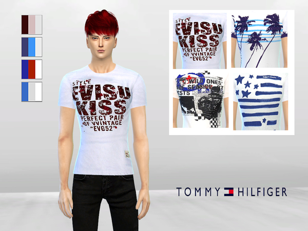 Sims 4 In Blue Mens Graphic Tees by McLayneSims at TSR