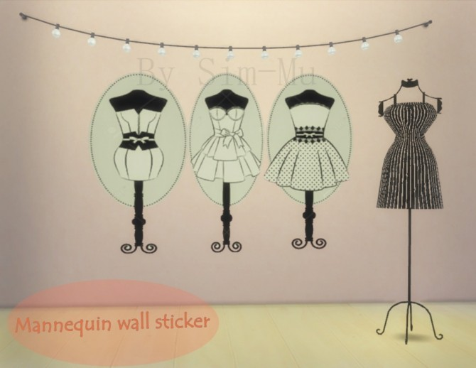 Sims 4 Fashion wall Decor at Sim Mu
