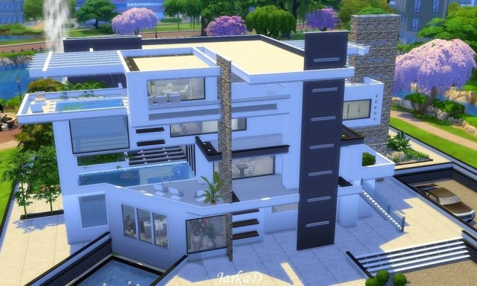 LUREN Modern Villa At JarkaD Sims 4 Blog Sims 4 Updates
