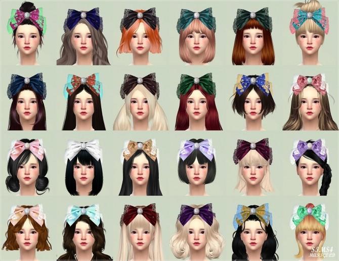 Big Lace Bow Head Band At Marigold 187 Sims 4 Updates