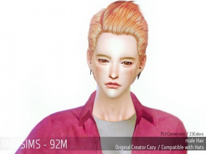 Hair 92M Cazy conversion (Pay) at May Sims image 2404 670x503 Sims 4 Updates