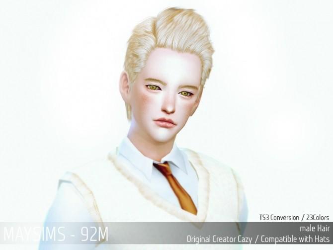 Hair 92M Cazy conversion (Pay) at May Sims image 24111 670x503 Sims 4 Updates