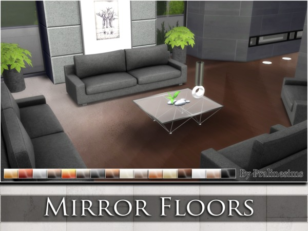 Mirror Floors by Pralinesims at TSR » Sims 4 Updates