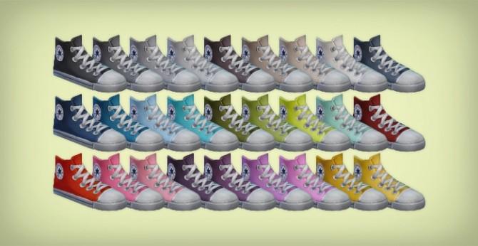 Sims 4 BG Hi Top canvas shoes retexture at Simsrocuted