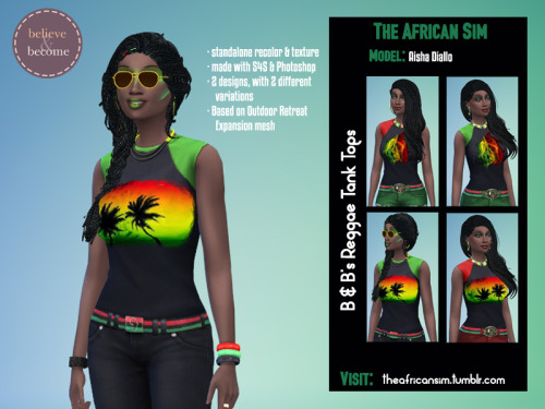 Believe & Become's paintings and tops at The African Sim image 2481 Sims 4 Updates