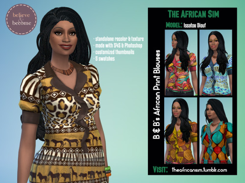 Believe & Become's paintings and tops at The African Sim image 2491 Sims 4 Updates
