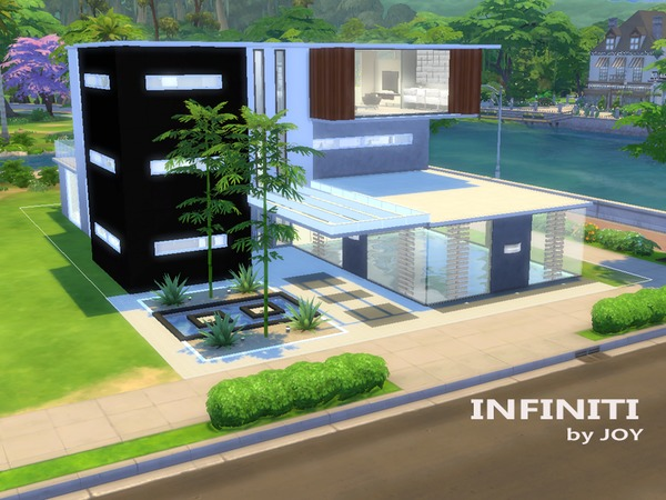 Infiniti modern house by joy at tsr sims 4 updates for Casas modernas los sims 4