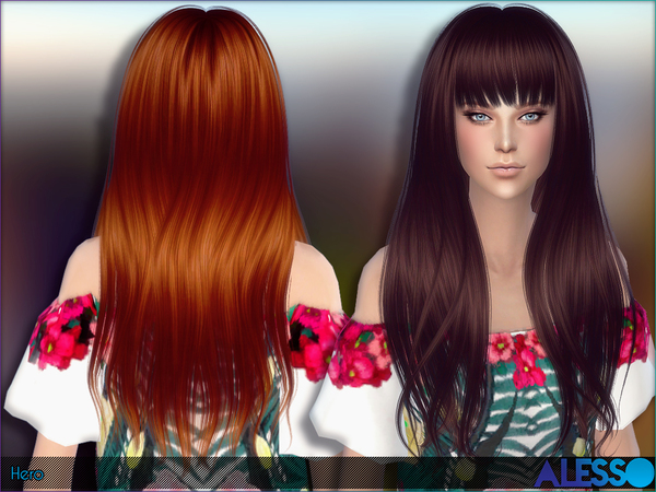Hero hair by Alesso at TSR image 270 Sims 4 Updates