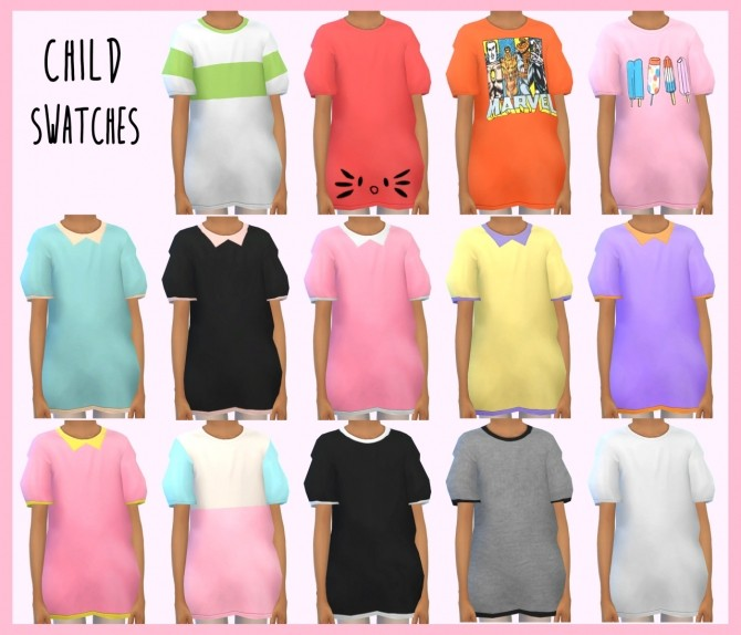 Oversized T Shirts All Ages At Dani Paradise 187 Sims 4 Updates