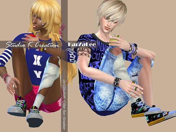 Color fun Sneakers at Studio K Creation image 2723 Sims 4 Updates