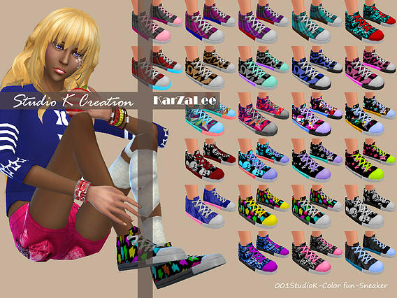 Color fun Sneakers at Studio K Creation image 2732 Sims 4 Updates