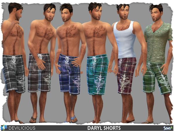 Sims 4 Shorts/Bermuda DARYL by Devilicious at TSR