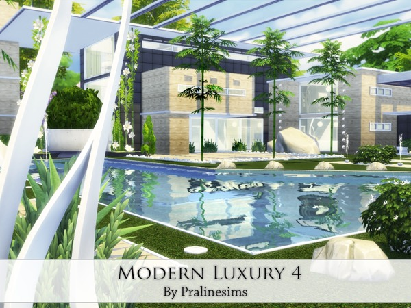 Sims 4 Modern Luxury 4 house by Pralinesims at TSR