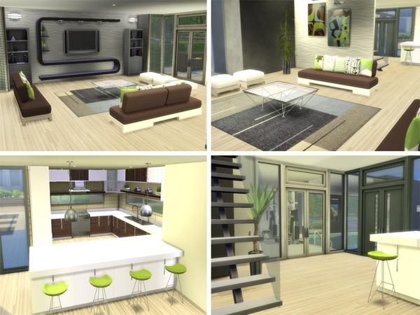 Sims 4 Infiniti Modern house by Joy at TSR