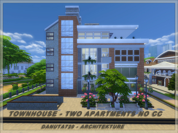 Townhouse Two Apartments by Danuta720 at TSR image 2918 Sims 4 Updates