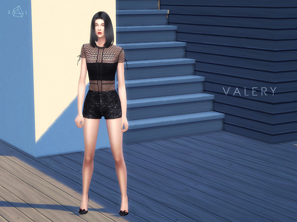 Sims 4 Panelled Lace Tee VALERY by starlord at TSR