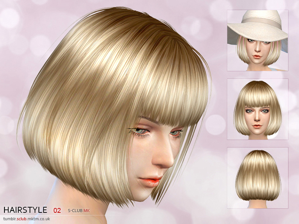 Hair #2 by S Club MK at TSR image 3 Sims 4 Updates