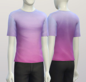 Sims 4 Basic t shirt 2 untucked (Males) at Rusty Nail