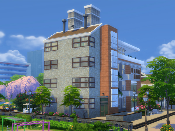 Townhouse Two Apartments by Danuta720 at TSR image 3020 Sims 4 Updates
