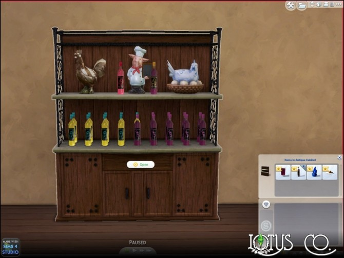 Antique Cabinet by Countrykris at Mod The Sims image 303 670x503 Sims 4 Updates