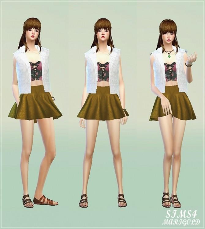 Flared mini skirt at Marigold image 3114 670x747 Sims 4 Updates