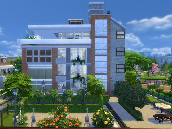 Townhouse Two Apartments by Danuta720 at TSR image 3125 Sims 4 Updates