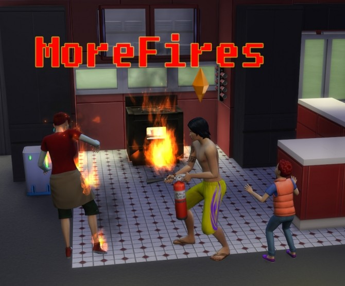 Sims 4 More Fires: Increased chance of fires by TwistedMexi at Mod The Sims