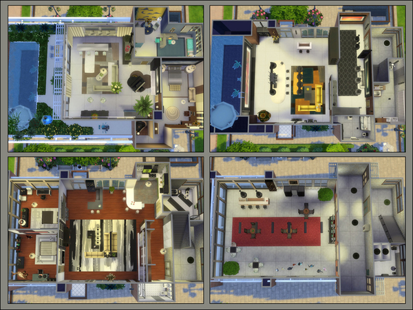 Townhouse Two Apartments by Danuta720 at TSR image 3222 Sims 4 Updates
