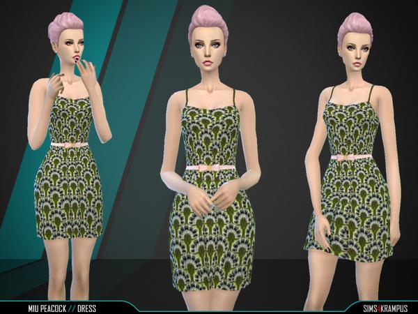 Sims 4 Miu Peacock Dress by SIms4Krampus at TSR