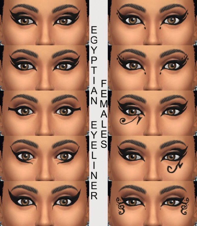 10 Egyptian Eyeliners by Simmiller at Mod The Sims image 324 670x770 Sims 4 Updates